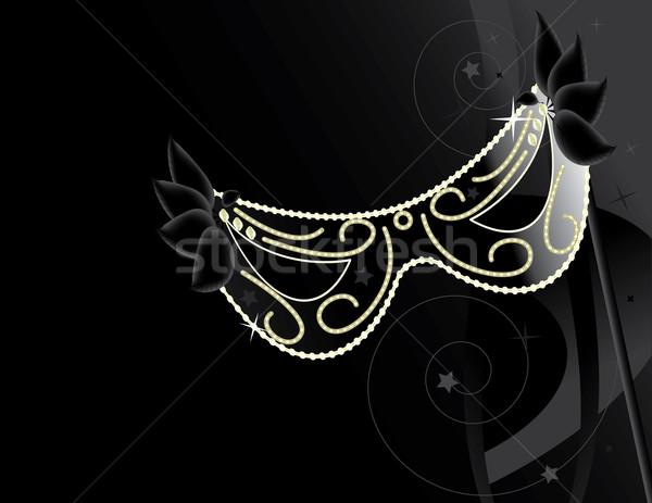 Nero maschera decorazione buio sfondo Foto d'archivio © randomway