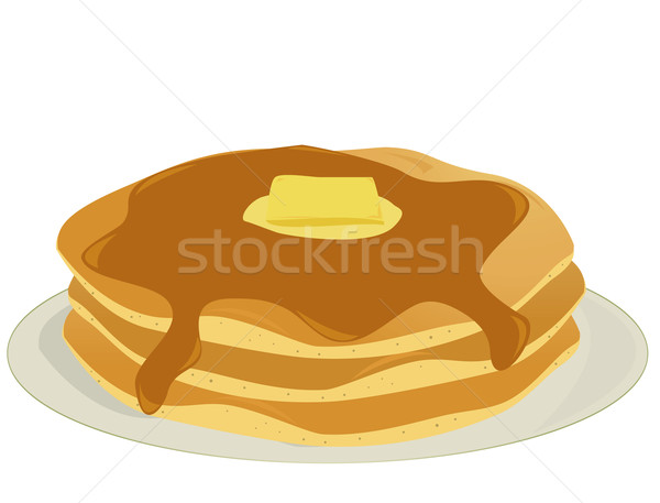 Plate of pancakes Stock photo © randomway