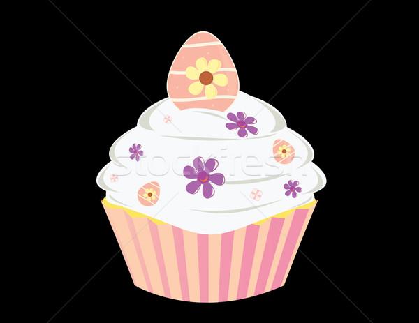 Uovo isolato nero alimentare torta Foto d'archivio © randomway