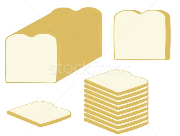 Pane fette pagnotta pane bianco bianco Foto d'archivio © randomway