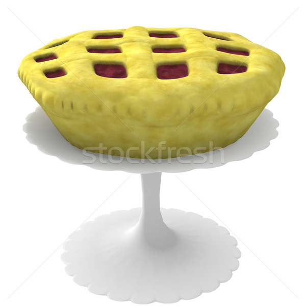 Pie on stand - 3d computer generated Stock photo © randomway
