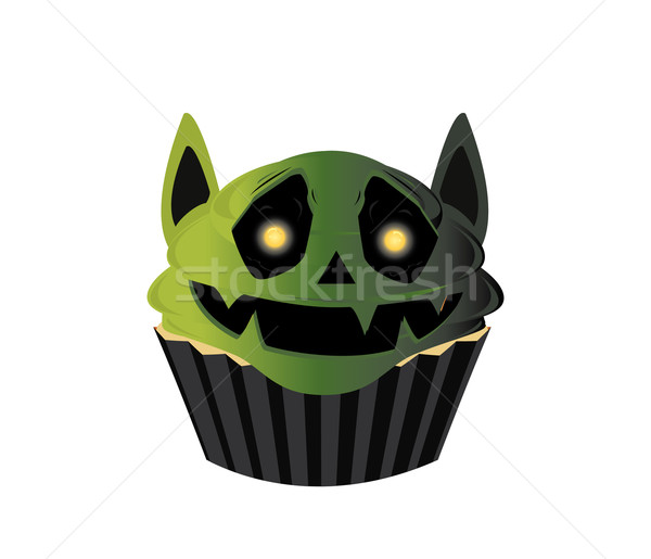Smiling goblin cupcake Stock photo © randomway