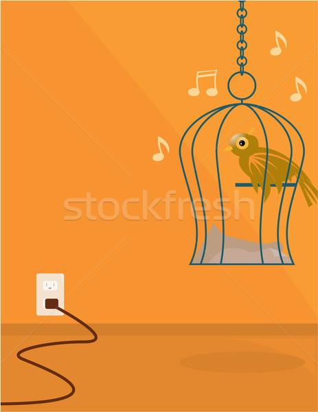 Indoor bird scene Stock photo © randomway