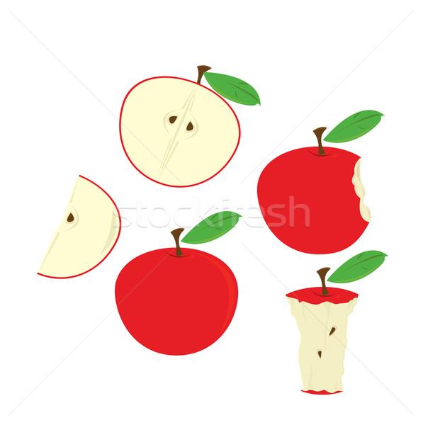 Rosso mele isolato bianco alimentare Foto d'archivio © randomway
