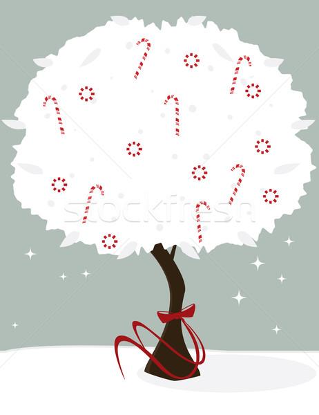 Candy albero bianco rosso arco Foto d'archivio © randomway