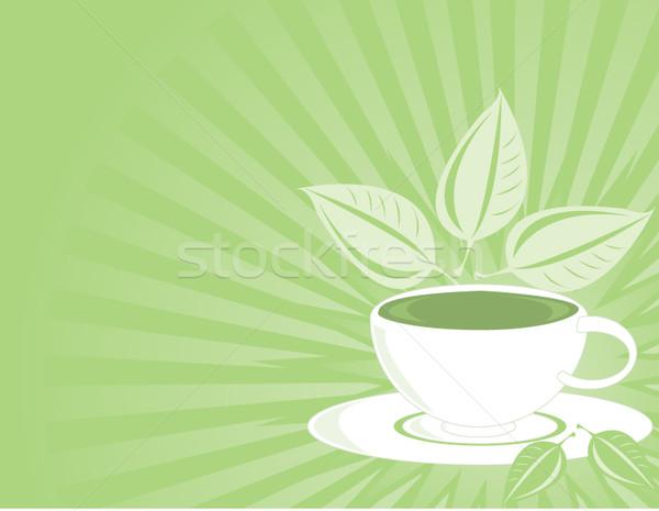 Tè verde bianco tazza da tè verde foglia bere Foto d'archivio © randomway