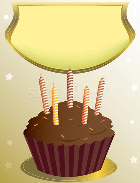 Cioccolato compleanno abbronzatura star Foto d'archivio © randomway