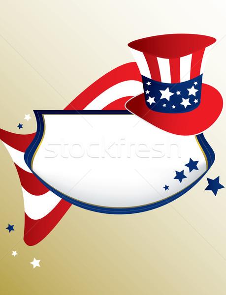 Americano patriottico banner abbronzatura bandiera star Foto d'archivio © randomway