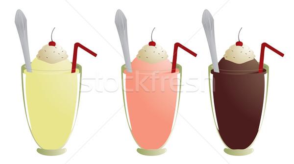 Milkshakes isolated Stock photo © randomway