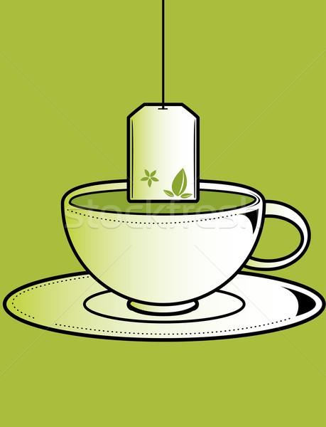 Cup tè bag verde bere Foto d'archivio © randomway