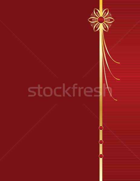 Oro design rosso line spazio copiare Foto d'archivio © randomway