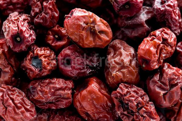 Kırmızı kurutulmuş tarihleri doku Asya Stok fotoğraf © raptorcaptor