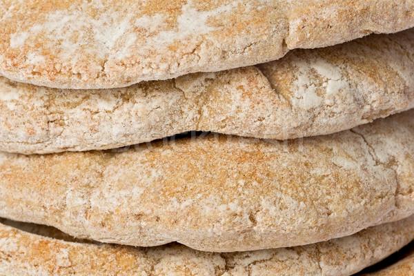 Pita chleba tekstury pełnoziarniste żywności Zdjęcia stock © raptorcaptor