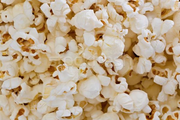 Stok fotoğraf: Patlamış · mısır · doku · taze · arka · plan · mısır · makro