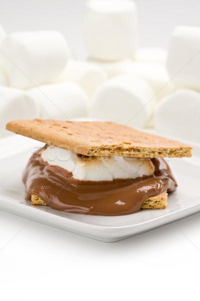 Foto stock: Sabroso · placa · sándwich · postre · dulce