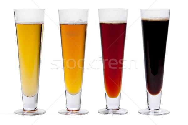Cuatro gafas color blanco vidrio oscuro Foto stock © raptorcaptor
