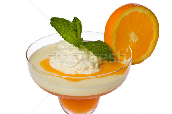 Abrikoos citroen oranje saus slagroom mint Stockfoto © raptorcaptor