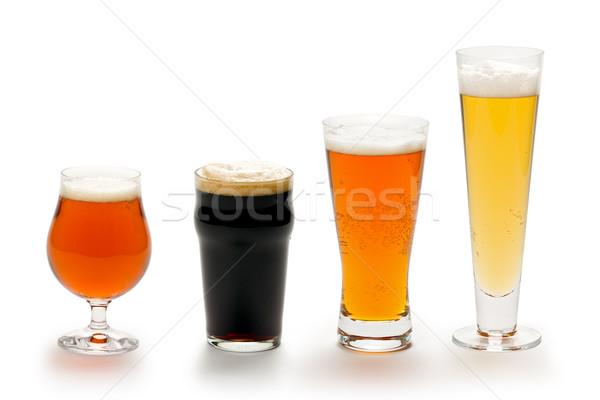Bira dört farklı stilleri gözlük Stok fotoğraf © raptorcaptor