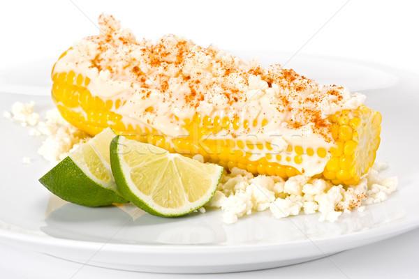 Mısır peynir kireç taze sarı mayonez Stok fotoğraf © raptorcaptor