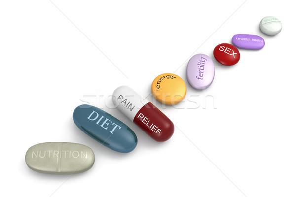 Stockfoto: Pillen · gezondheidszorg