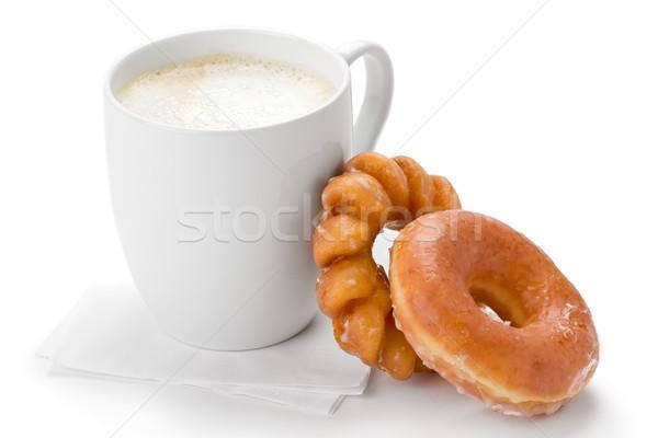 Kahve iki fincan beyaz Stok fotoğraf © raptorcaptor