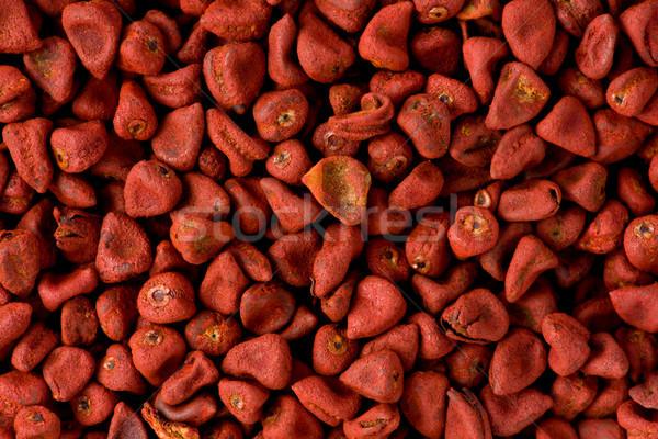Stok fotoğraf: Kırmızı · tohumları · doku · kullanılmış · Meksika · pişirme