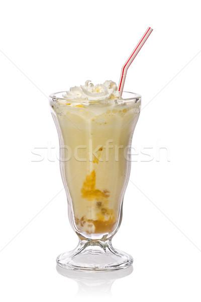 Banaan smoothie karamel slagroom witte voedsel Stockfoto © raptorcaptor