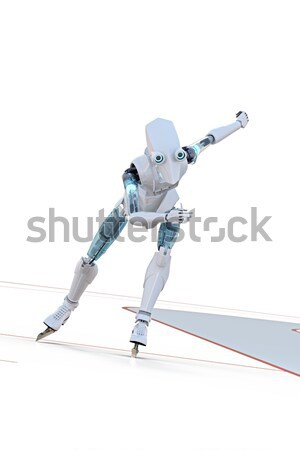 Robot Jumping Hurdle Stock photo © raptorcaptor
