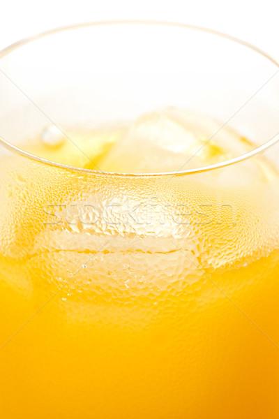 Portakal suyu cam buz yoğunlaşma serin Stok fotoğraf © raptorcaptor