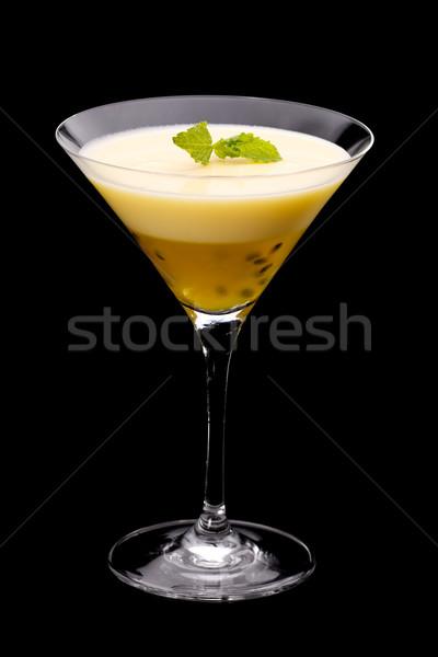Tutku meyve puding cam limon martini cam Stok fotoğraf © raptorcaptor