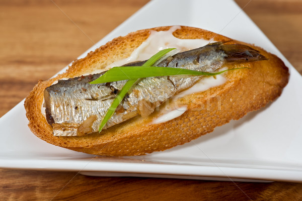 Sardines on Toast Stock photo © raptorcaptor