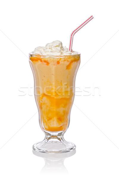 Mango zalamero crema batida blanco vidrio Foto stock © raptorcaptor