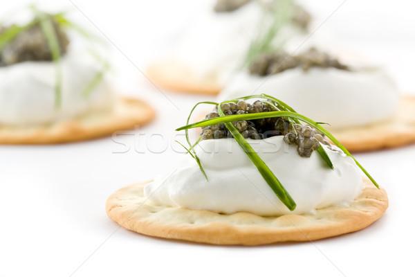 Photo stock: Caviar · plusieurs · alimentaire · casse-croûte · délicieux
