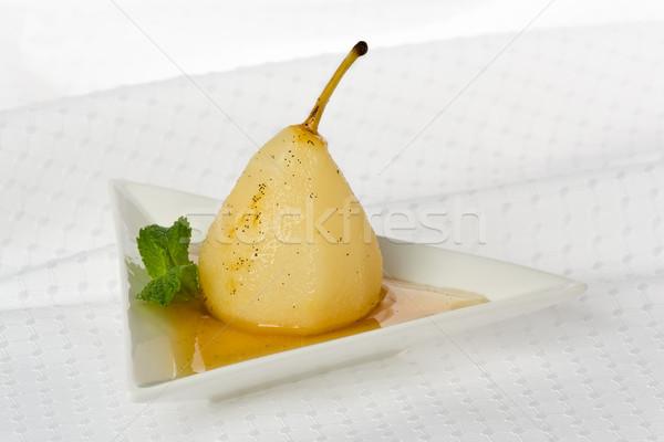 Pera dolce vino bianco salsa piccolo antipasto Foto d'archivio © raptorcaptor