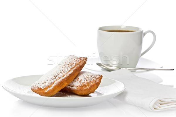 Twee nieuwe stijl beker koffie witte Stockfoto © raptorcaptor