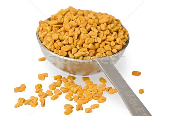 Fenugreek Seeds in Spoon Stock photo © raptorcaptor
