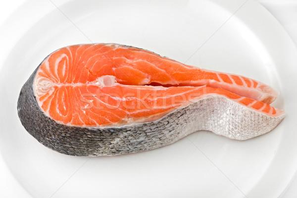 Salmone bistecca bianco piatto Foto d'archivio © raptorcaptor