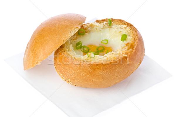 卵 パン ボウル 緑 ストックフォト © raptorcaptor