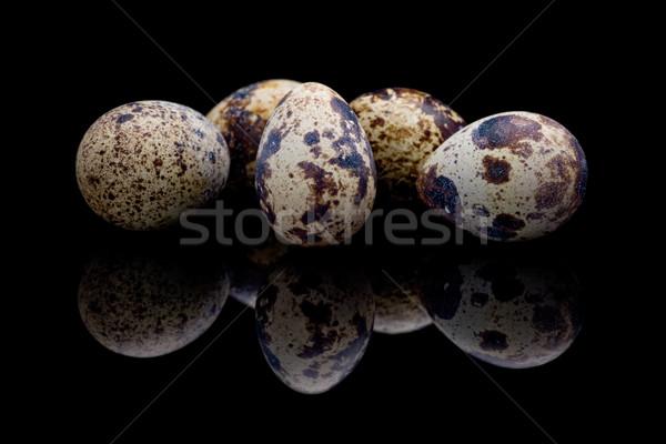 Foto d'archivio: Uova · nero · riflessione · alimentare · uovo · gioco