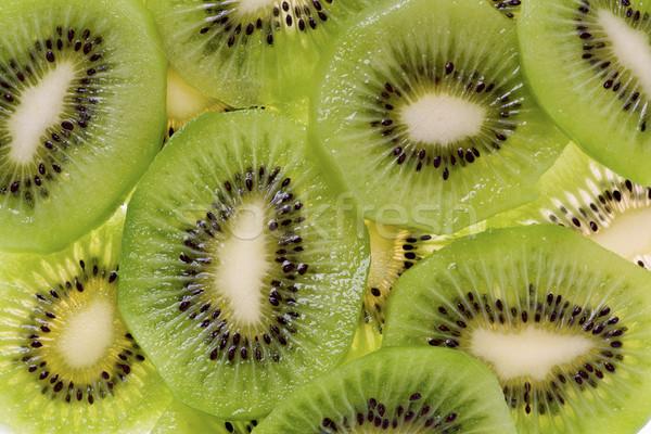 Sliced Kiwi Fruit (Actinidia deliciosa) Stock photo © raptorcaptor