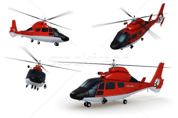 Stockfoto: Redding · helikopter · gedetailleerd · 3D · model
