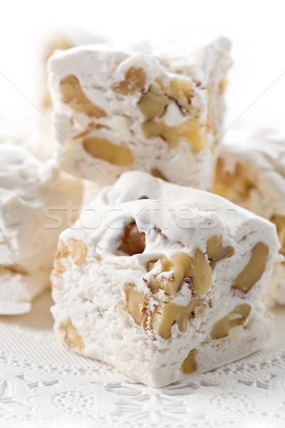 Fındık lezzetli beyaz gıda tatlı tatlı Stok fotoğraf © raptorcaptor