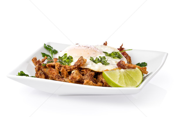 Photo stock: Frit · porcs · oreilles · chili · chaux