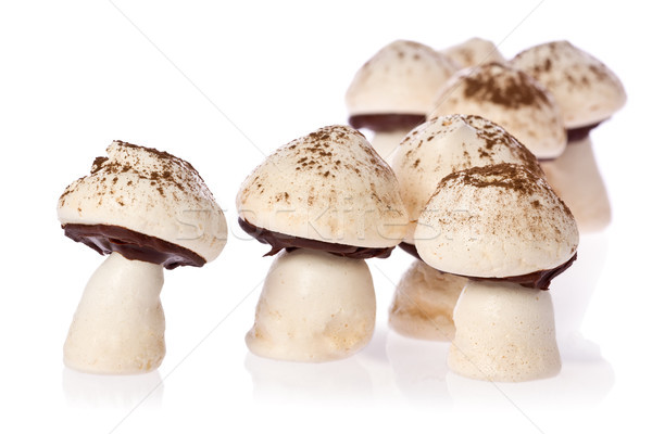 Mantar çikolata beyaz pişirme tatlı Stok fotoğraf © raptorcaptor