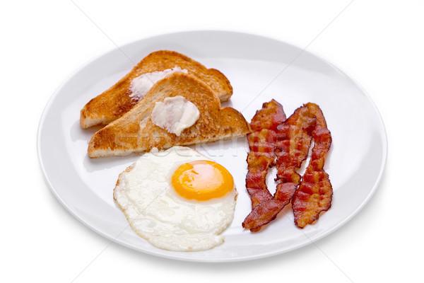 Pancetta uovo colazione uova toast bianco Foto d'archivio © raptorcaptor