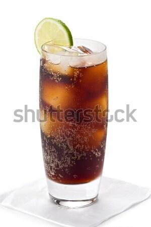 Vetro cola ghiacciato freddo fetta calce Foto d'archivio © raptorcaptor