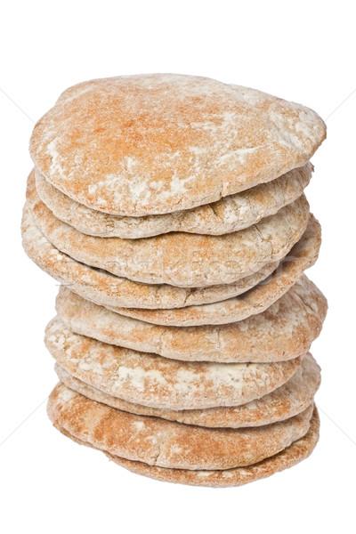 Pita pão trigo branco Foto stock © raptorcaptor