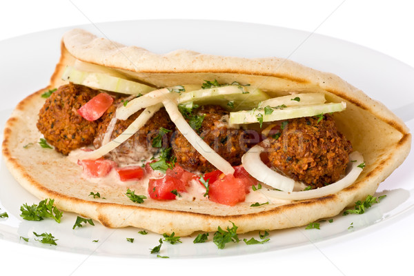 Falafel Sandwich Stock photo © raptorcaptor