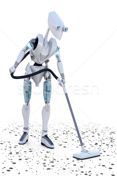 Stockfoto: Robot · omhoog · klein · metaal · toekomst