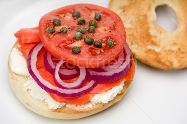 bagel with Lox Stock photo © raptorcaptor